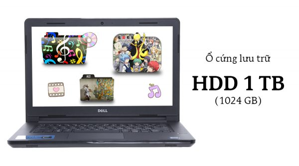 Laptop Dell Vostro 3468 i5 7200U/4GB/1TB/Win10