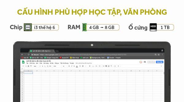 Laptop Dell Vostro 3568 i3 6006U/4GB/1TB/Win10 (VTI3027W)