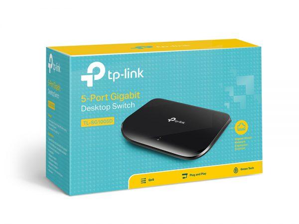Bộ chia mạng 5 cổng TP-Link 10/100/1000 Mbps (TL-SG1005D)