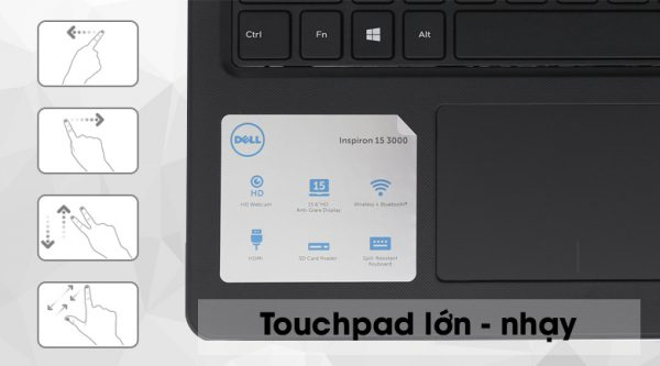 Laptop Dell Inspiron 3576 i3 8130U/4GB/1TB/Win10 (P63F002N76B)