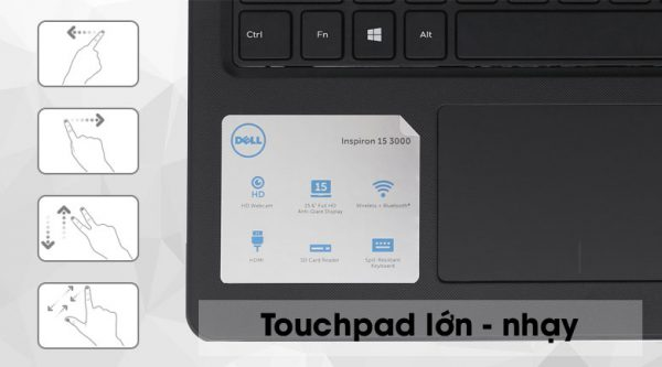Laptop Dell Inspiron 3576 i5 8250U/4GB/1TB/Win10 (P63F002N76F)